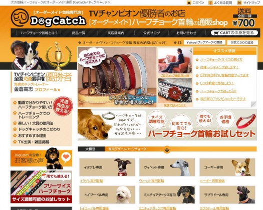 ドッグキャッチのホームページ