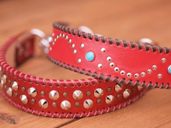赤い首輪。