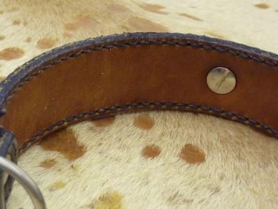 首輪の内側。すごく綺麗な飴色に。